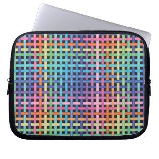 Rainbow Crossed Pattern Laptop Sleeves