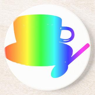 Rainbow Cup, Saucer, Spoon Drink Coaster