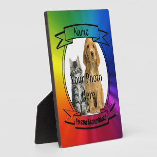 Rainbow Custom Memorial - Forever Remembered Display Plaque