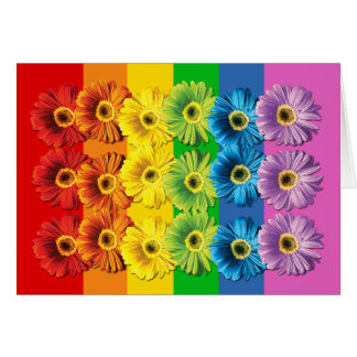 Rainbow Daisies Card