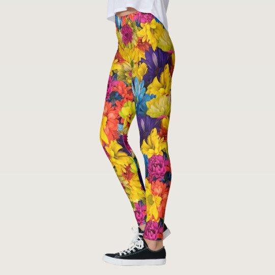 Rainbow Daisies Leggings