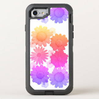 Rainbow Daisy Flowers Artsy Photography OtterBox Defender iPhone 8/7 Case