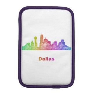 Rainbow Dallas skyline iPad Mini Sleeves