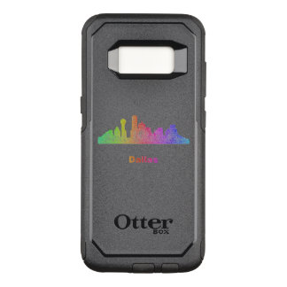 Rainbow Dallas skyline OtterBox Commuter Samsung Galaxy S8 Case