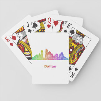 Rainbow Dallas skyline Poker Deck