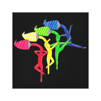 Rainbow Dancers Canvas Print