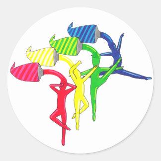 Rainbow Dancers sticker