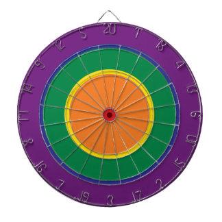 rainbow dartboard