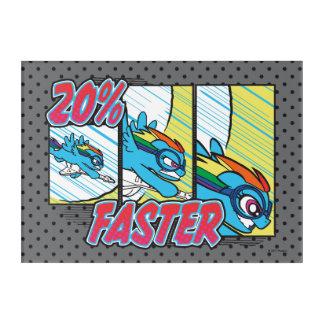 Rainbow Dash   20% Faster Acrylic Wall Art