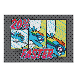 Rainbow Dash | 20% Faster Poster