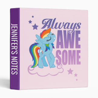 Rainbow Dash | Always Awesome 3 Ring Binder