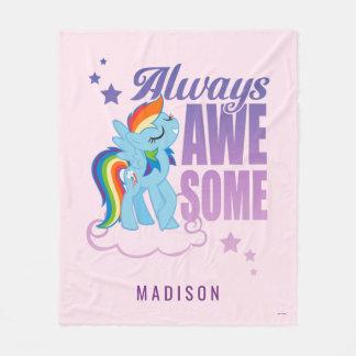 Rainbow Dash | Always Awesome Fleece Blanket