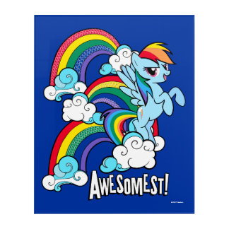 Rainbow Dash   Awesomest! Acrylic Print
