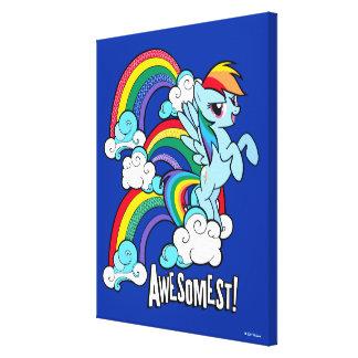 Rainbow Dash | Awesomest! Canvas Print