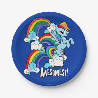 Rainbow Dash   Awesomest! Paper Plate