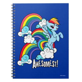 Rainbow Dash   Awesomest! Spiral Notebook