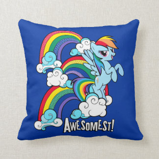 Rainbow Dash | Awesomest! Throw Pillow