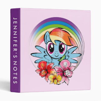 Rainbow Dash | Floral Watercolor Rainbow Binder