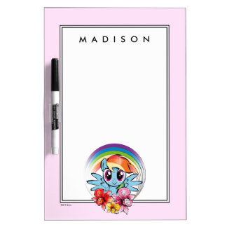 Rainbow Dash | Floral Watercolor Rainbow Dry Erase Board