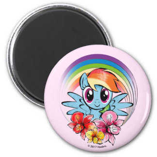 Rainbow Dash | Floral Watercolor Rainbow Magnet