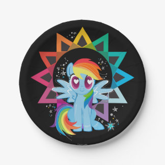 Rainbow Dash | Rainbow Powered Paper Plate