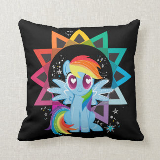 Rainbow Dash | Rainbow Powered Throw Pillow