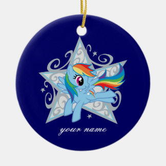 Rainbow Dash Star Ceramic Ornament
