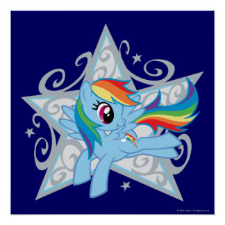 Rainbow Dash Star Poster