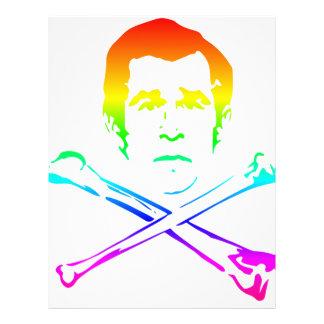 Rainbow Death's Head Personalized Letterhead
