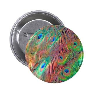 Rainbow Deco 2 Inch Round Button