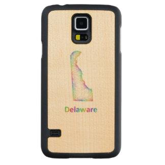 Rainbow Delaware map Maple Galaxy S5 Slim Case