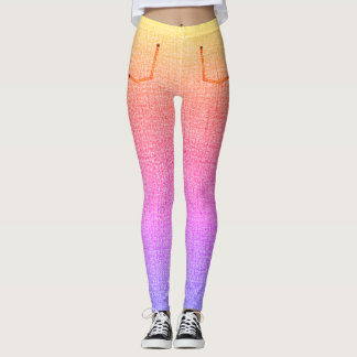 Rainbow Denim Skinny Jeans Leggings