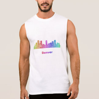 Rainbow Denver skyline Sleeveless Shirt