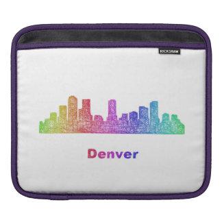 Rainbow Denver skyline Sleeves For iPads