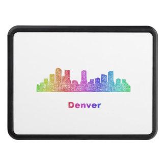 Rainbow Denver skyline Trailer Hitch Cover