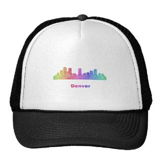 Rainbow Denver skyline Trucker Hat