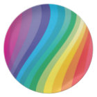 Rainbow design plate