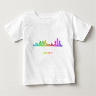 Rainbow Detroit skyline Baby T-Shirt