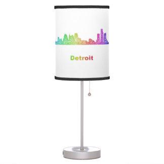 Rainbow Detroit skyline Table Lamp