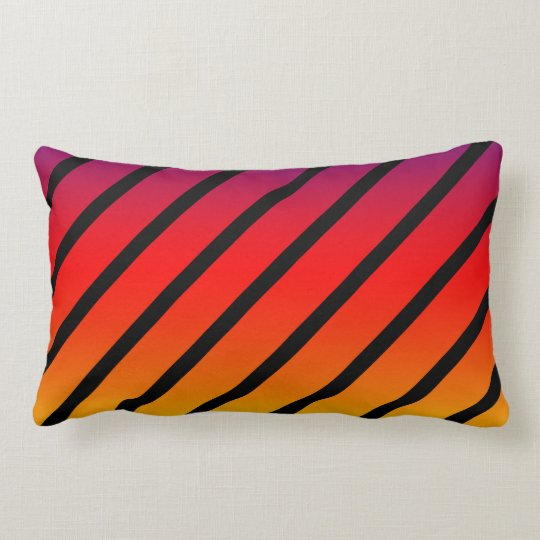 Rainbow Diagonal Stripes, Lumbar Cushion. Lumbar Pillow