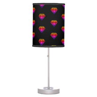 Rainbow Diamond Pattern Table Lamps