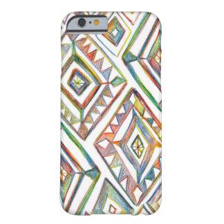Rainbow diamonds pencil art iPhone 6/6s case