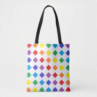 Rainbow Diamonds Tote Bag