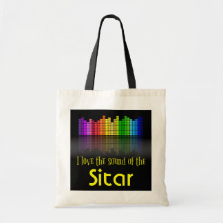Rainbow Digital Sound Equalizer Sitar Tote Bag