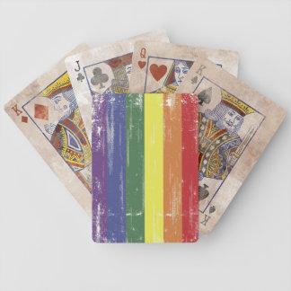 Rainbow Distressed Cards