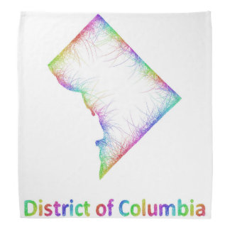 Rainbow District of Columbia map Bandannas
