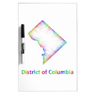 Rainbow District of Columbia map Dry Erase Whiteboards