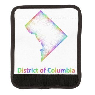 Rainbow District of Columbia map Handle Wrap