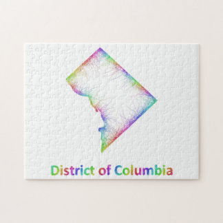 Rainbow District of Columbia map Puzzle