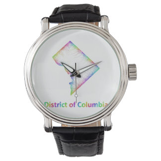 Rainbow District of Columbia map Watches